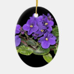 African violet christmas ornaments