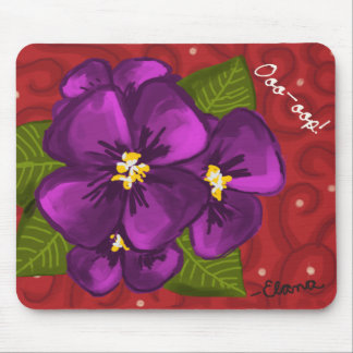 African Violet Dance Mouse Pad