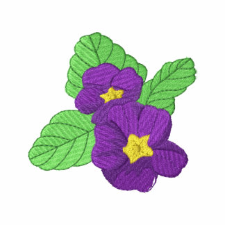 African Violet Embroidered Hooded Sweatshirt