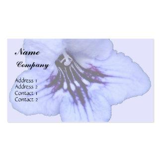 African Violet Flower Business Card