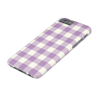 African Violet Gingham Pattern iPhone 6 Case