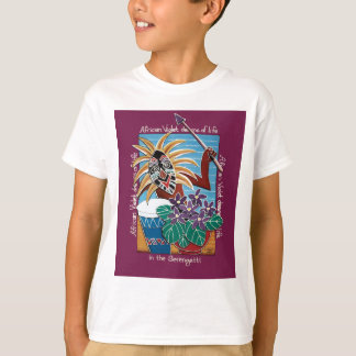 African Violet in Serengetti T-Shirt