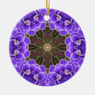 African Violet Ornamant Christmas Tree Ornament