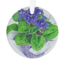 African Violet Ornament