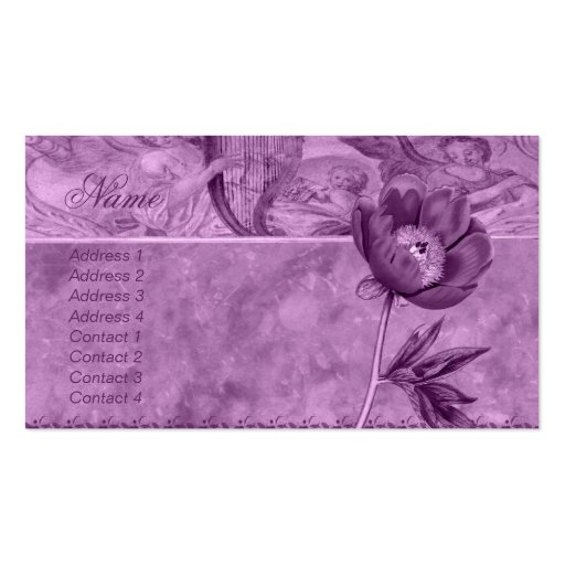 African Violet Poppy Business Card Templates