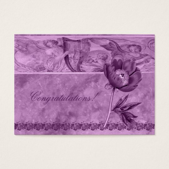 African Violet Poppy Business Card