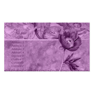African Violet Poppy Double-Sided Standard Business Cards (Pack Of 100)