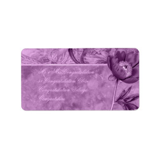 African Violet Poppy Label