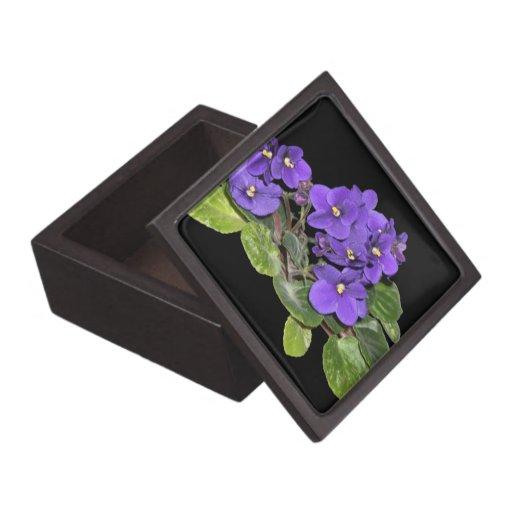 African violet premium trinket boxes