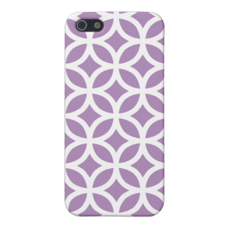 African Violet Purple Geometric iPhone 5 Case