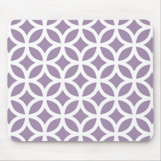 African Violet Purple Geometric Mouse Pad