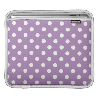 African Violet Purple Polka Dot Pattern Sleeve For iPads