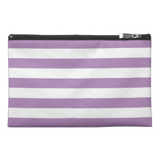 African Violet Purple Stripes Pattern Travel Accessory Bag