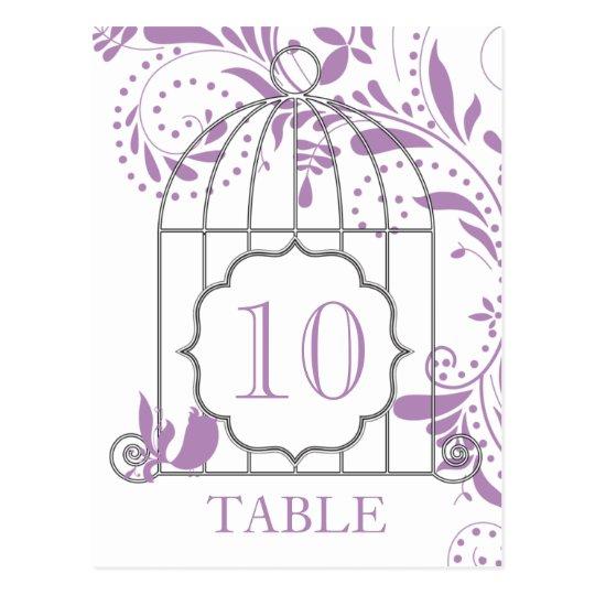 African Violet Purple Wedding Table Numbers Postcard