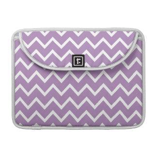 African Violet Purple Zig Zag Chevron MacBook Pro Sleeve
