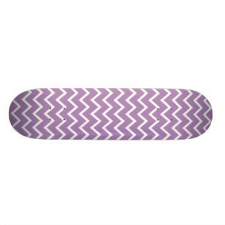 African Violet Purple Zig Zag Chevron Skateboard Deck