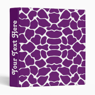 African Violet Safari Giraffe with text 3 Ring Binder