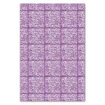 African Violet Safari Zebra, tiled design Tissue Paper