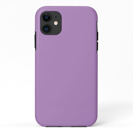 African Violet Solid Color iPhone 11 Case