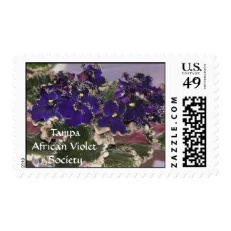 African Violet Stamp