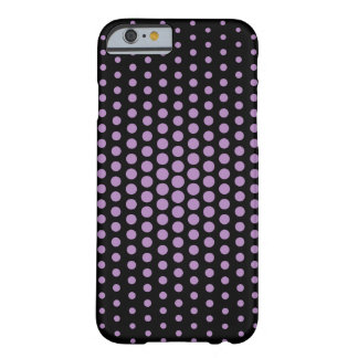 African violet Techno Dots Modern Black Barely There iPhone 6 Case