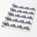 African violet wrapping paper