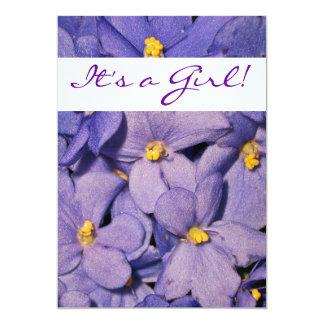 African Violets Baby Shower Invitation