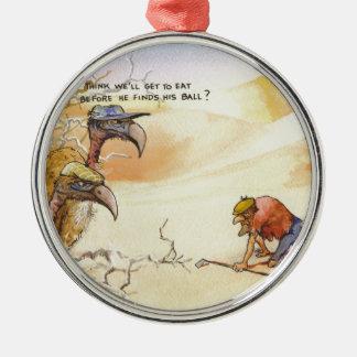 African Vultures Metal Ornament
