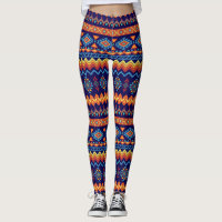 African Warm Colors Pattern Leggings