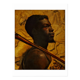 African Warrior by Boyd Postcard