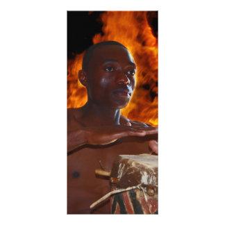 African Warrior Drumbeat Rack Card