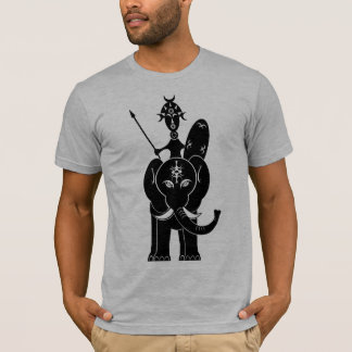 African Warrior on Elephant T-Shirt