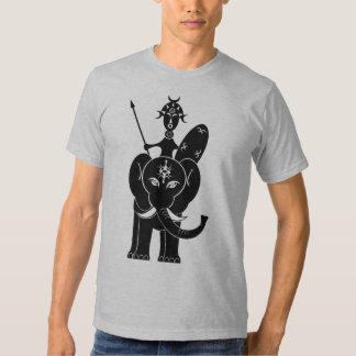 African Warrior on Elephant Tee Shirt