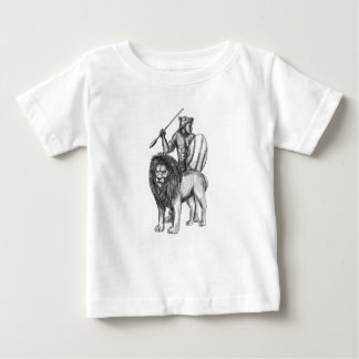 African Warrior Spear Lion Tattoo Baby T-Shirt