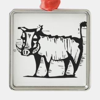 African Warthog Metal Ornament