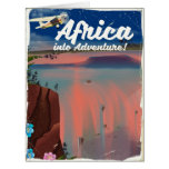 African Waterfall Adventure poster Card