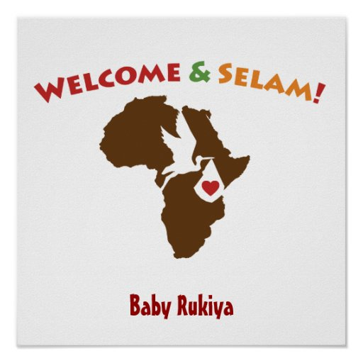 African - Welcome Home Poster