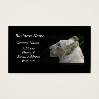 African White Lion Big Cat Wildlife Business Card