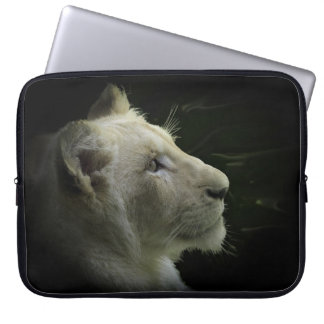 African White Lion Big Cat Wildlife Laptop Sleeve