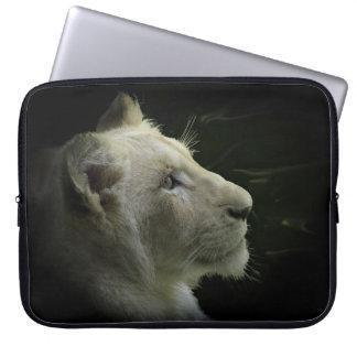 African White Lion Big Cat Wildlife Laptop Sleeve
