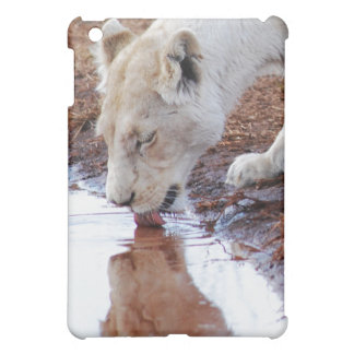African White Lion Reflection Cover For The iPad Mini