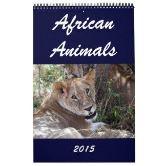 african wild animals 2015 calendar