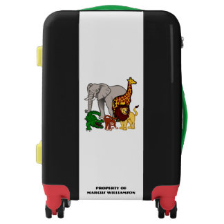 African Wild Animals Cartoon Personalized Luggage