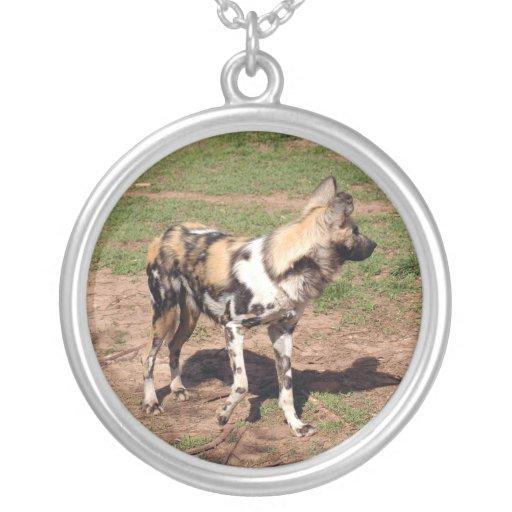african-wild-dog-003 colgante redondo