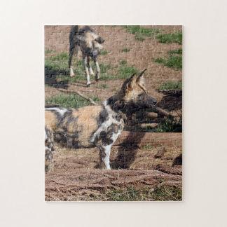 african-wild-dog-008 rompecabeza con fotos