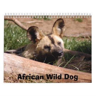 african-wild-dog-012, African Wild Dog Wall Calendar