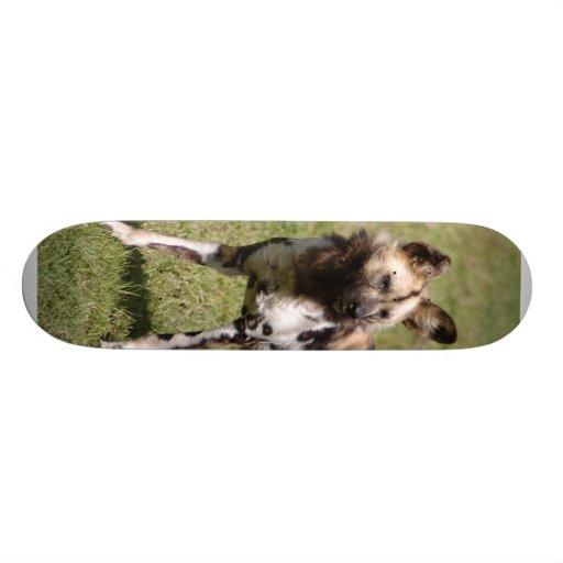 African Wild Dog 015 Skateboard
