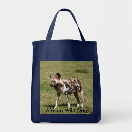 African Wild Dog-016, African Wild Dog Tote Bag