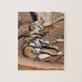 african-wild-dog-017 rompecabeza