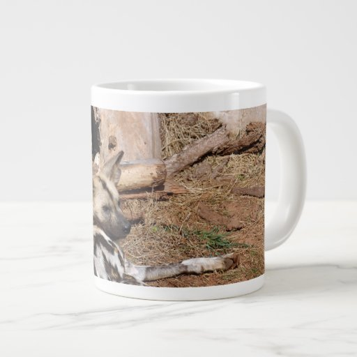 african-wild-dog-017 20 oz large ceramic coffee mug